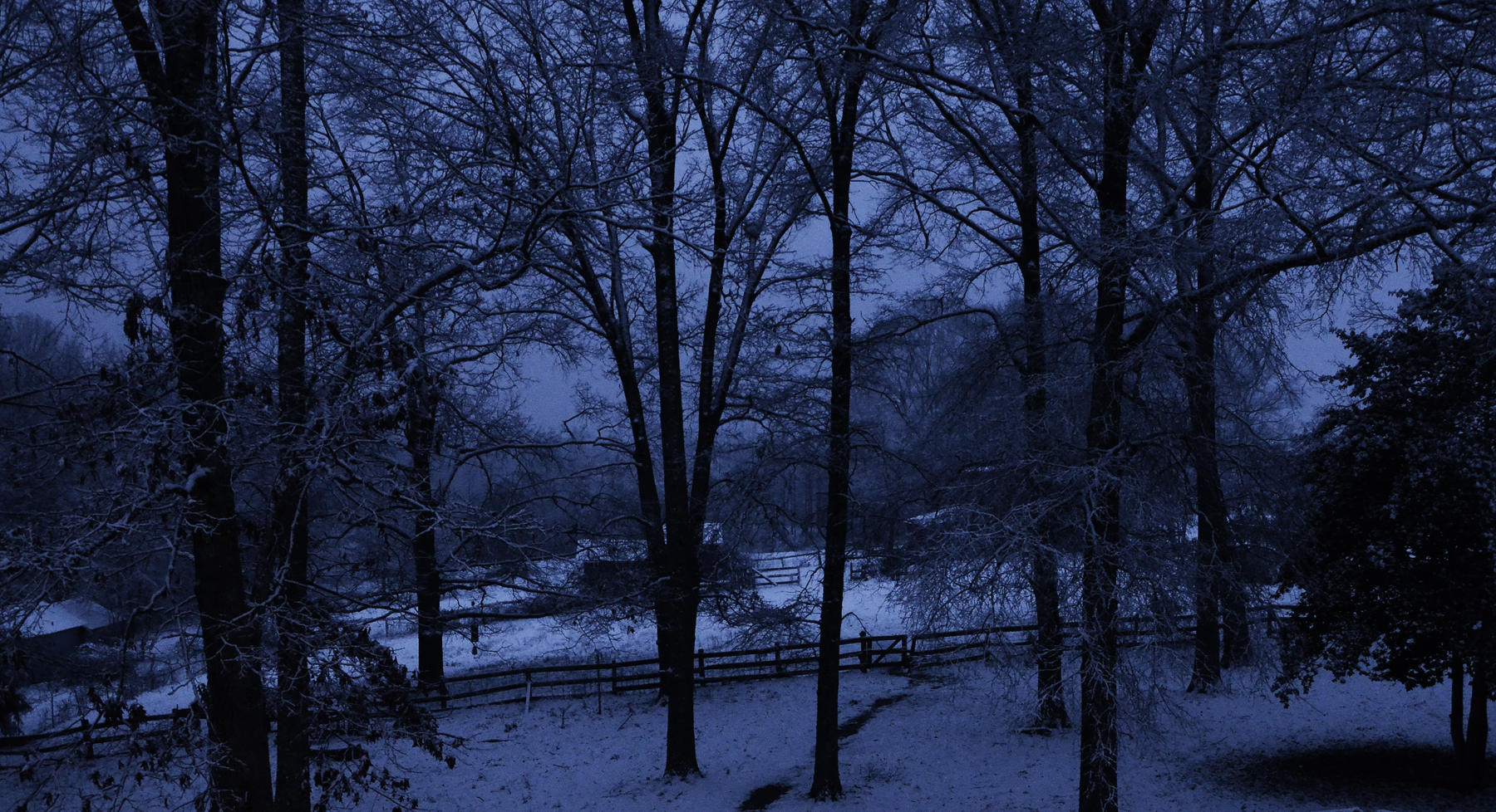 Silent snowy night on the farm love this view this was taken after